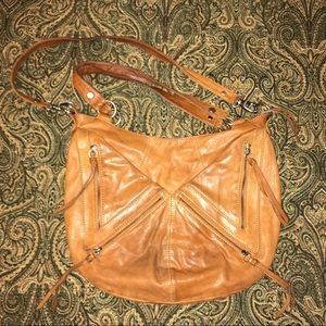 Marc New York brown leather cross body purse